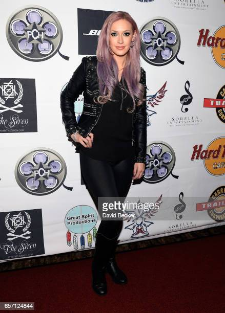 Singer Kaya Jones attends the inaugural Las Vegas FAME Awards presented by the Producers Choice Honors at the Hard Rock Cafe Las Vegas Strip on March...