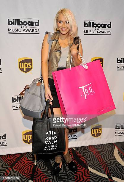 Singer Kaya Jones attends the UPS Gifting Lounge during the 2015 Billboard Music Awards at MGM Grand Garden Arena on May 15 2015 in Las Vegas Nevada