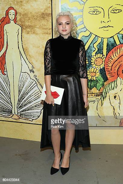 Singer Kaya Stewart attends the Alice Olivia by Stacey Bendet Spring/Summer 2017 Presentation during New York Fashion Week September 2016 at Skylight...