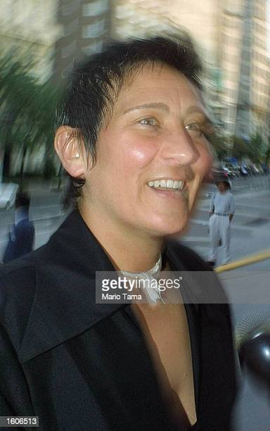 Singer KD Lang arrives at Tony Bennett''s 75th birthday party at the Metropolitan Museum of Art August 2 2001 in New York City