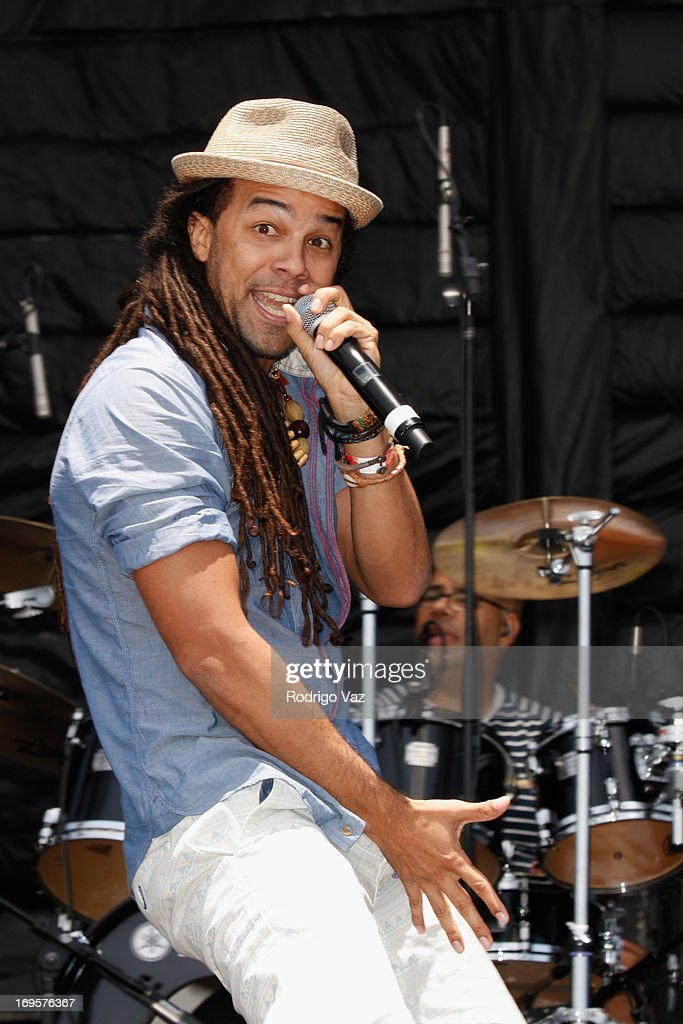 Singer Kees Dieffenthaller of KES the Band performs at the 27th Annual JazzReggae Festival - Day 2 at UCLA on May 27, 2013 in Los Angeles, California.