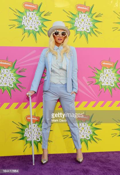 Singer Ke$ha arrives at Nickelodeon's 26th Annual Kids' Choice Awards at USC Galen Center on March 23 2013 in Los Angeles California