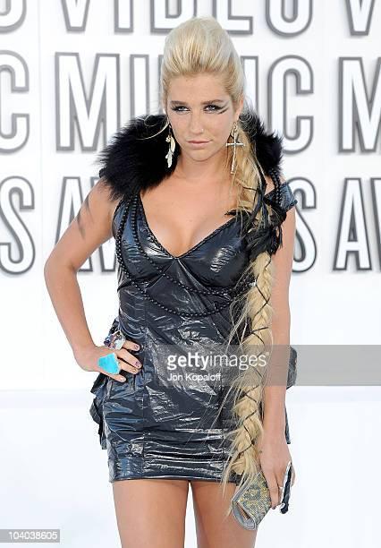Singer Ke$ha arrives at the 2010 MTV Video Music Awards held at Nokia Theatre LA Live on September 12 2010 in Los Angeles California