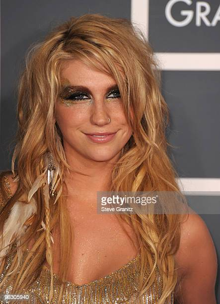 Singer Ke$ha arrives at the 52nd Annual GRAMMY Awards held at Staples Center on January 31 2010 in Los Angeles California