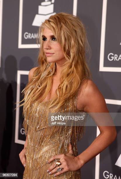 Singer Ke$ha arrives at the 52nd Annual GRAMMY Awards held at Staples Center on January 31, 2010 in Los Angeles, California.
