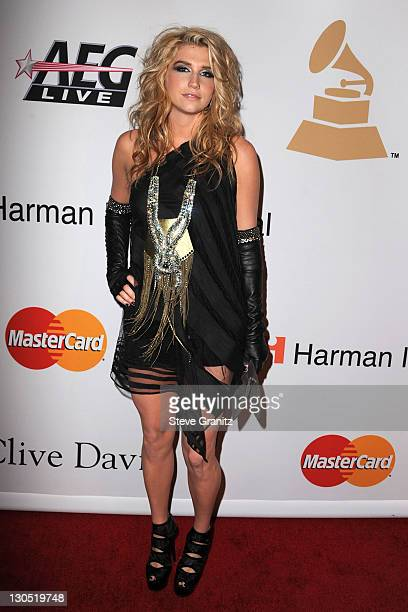 Singer Ke$ha arrives at the 52nd Annual GRAMMY Awards Salute To Icons Honoring Doug Morris held at The Beverly Hilton Hotel on January 30 2010 in...