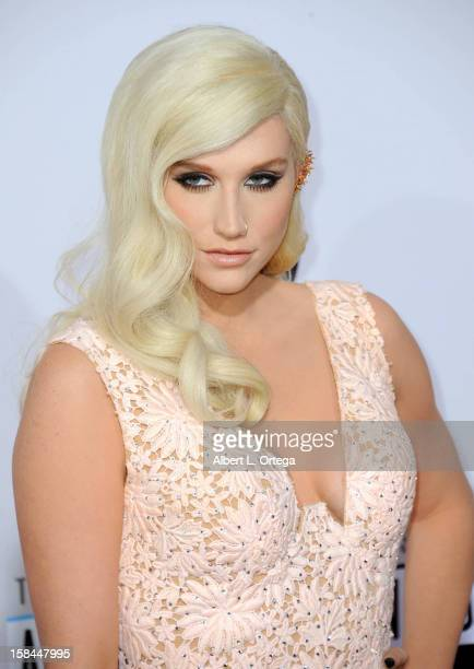 Singer Ke$ha arrives for the 40th Anniversary American Music Awards Arrivals held at Nokia Theater LA Live on November 18 2012 in Los Angeles...