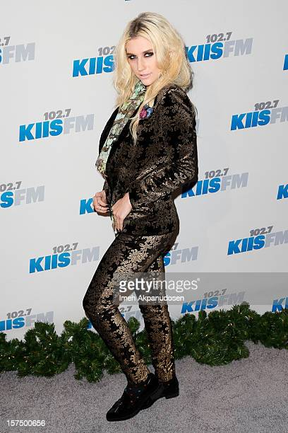 Singer Ke$ha attends KIIS FM's 2012 Jingle Ball at Nokia Theatre LA Live on December 3 2012 in Los Angeles California