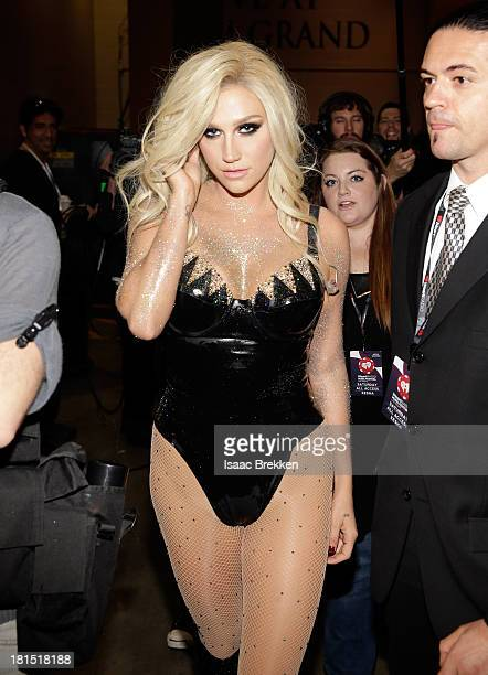 Singer Ke$ha attends the iHeartRadio Music Festival at the MGM Grand Garden Arena on September 21 2013 in Las Vegas Nevada