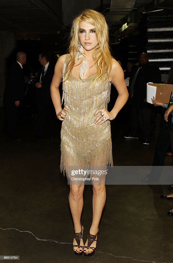 Singer Ke$ha backstage during the 52nd Annual GRAMMY Awards held at Staples Center on January 31, 2010 in Los Angeles, California.