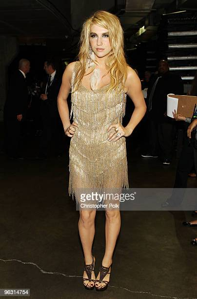Singer Ke$ha backstage during the 52nd Annual GRAMMY Awards held at Staples Center on January 31 2010 in Los Angeles California