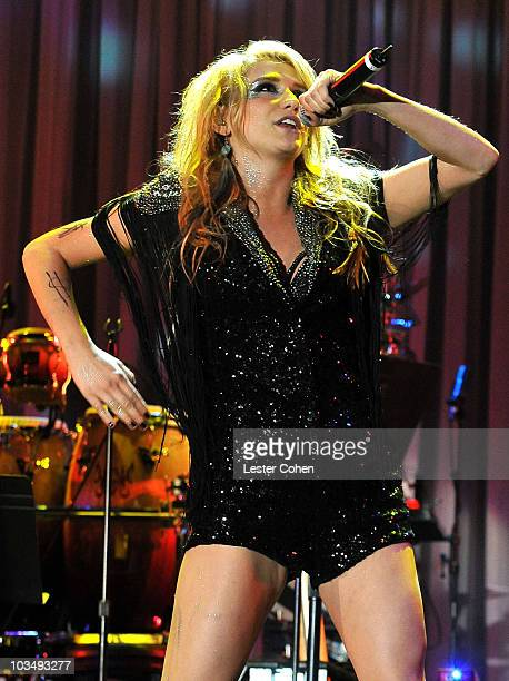 Singer Ke$ha onstage during the 52nd Annual GRAMMY Awards Salute To Icons Honoring Doug Morris held at The Beverly Hilton Hotel on January 30 2010 in...