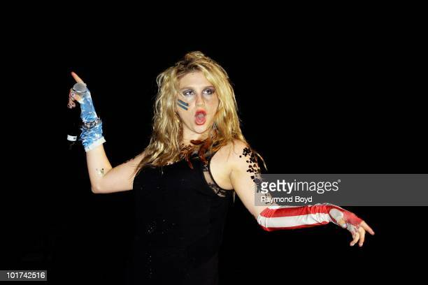 Singer Ke$ha performs at the Allstate Arena in Rosemont Illinois on MAY 21 2010