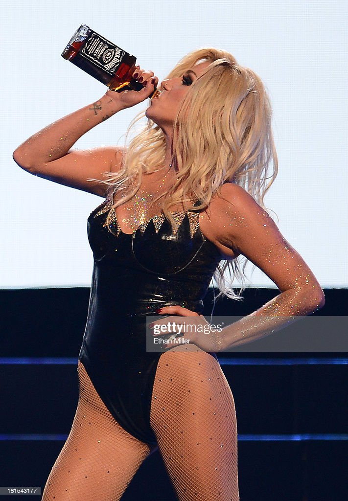 Singer Ke$ha performs during the iHeartRadio Music Festival at the MGM Grand Garden Arena on September 21, 2013 in Las Vegas, Nevada.