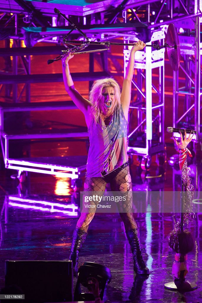 bb75ac427fb Singer Ke ha performs during the MTV World Stage Mexico 2011 at the ...