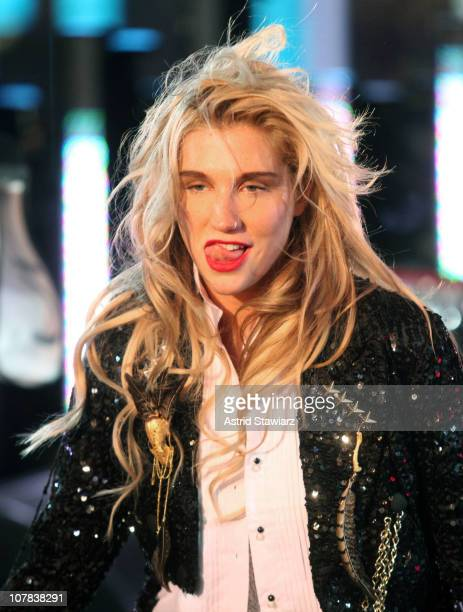 Singer Ke$ha performs while celebrating New Year's Eve 2011 in Times Square on December 31 2010 in New York City