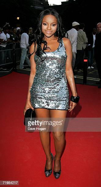 Singer Keisha Buchanan arrives at the MOBO Awards 2006 at The Royal Albert Hall on September 20 2006 in London England