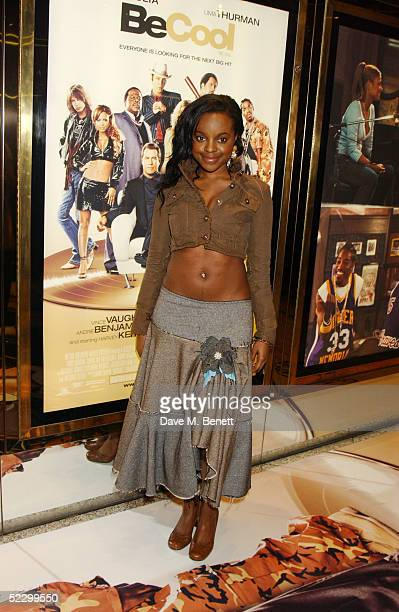 Singer Keisha Buchanan of the Sugababes arrives at the UK premiere of 'Be Cool' at the Empire Leicester Square on March 7 2005 in London The film is...