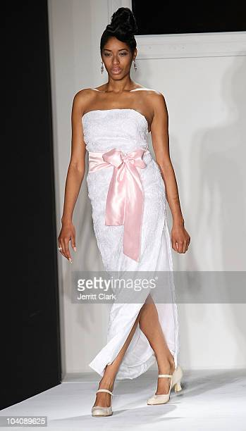 Singer Keisha White walks in the bobi/Boy Meets Girl/Caravan Spring 2011 at Style360 on September 14 2010 in New York City