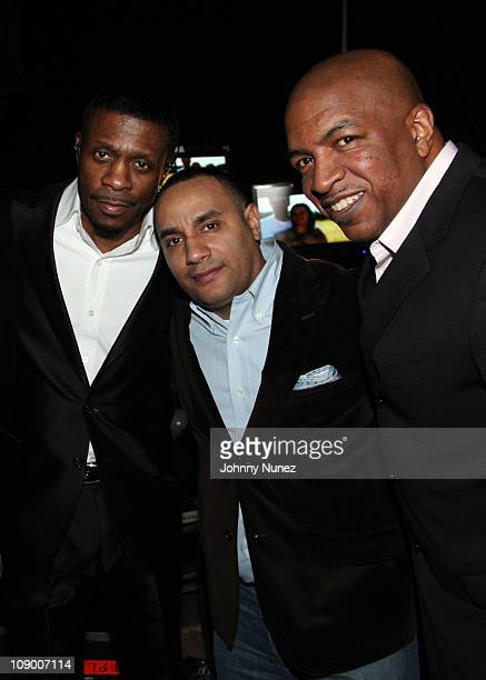 Singer Keith Sweat event producer and promoter John 'Gungie' Rivera and VJ and Hip Hop culture pioneer 'Uncle' Ralph McDaniels attend the Ladies...
