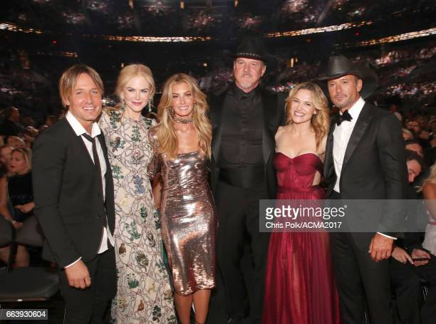 Singer Keith Urban actor Nicole Kidman singer Faith Hill singer Trace Adkins actor Victoria Pratt and singer Tim McGraw attend the 52nd Academy Of...