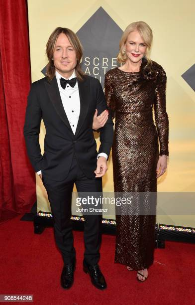 Singer Keith Urban and actor Nicole Kidman attend the 24th Annual Screen Actors Guild Awards at The Shrine Auditorium on January 21 2018 in Los...