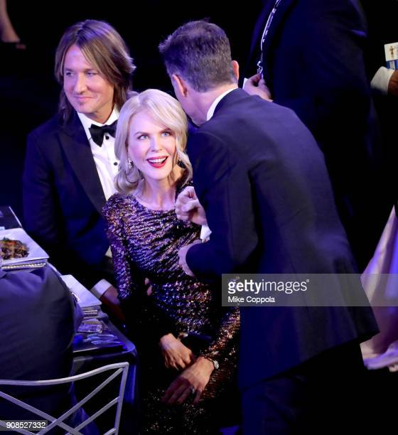 Singer Keith Urban and actor Nicole Kidman during the 24th Annual Screen Actors Guild Awards at The Shrine Auditorium on January 21 2018 in Los...