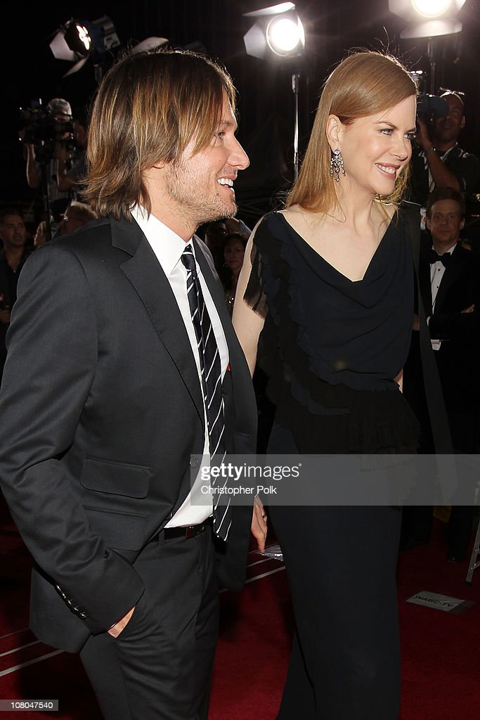 Singer Keith Urban and actress Nicole Kidman arrive at the 16th annual Critics' Choice Movie Awards at the Hollywood Palladium on January 14, 2011 in Los Angeles, California.
