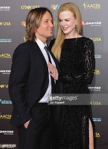 Singer Keith Urban and actress Nicole Kidman arrive at the 2015 G'Day USA Gala Featuring The AACTA International Awards Presented By Quantas at...