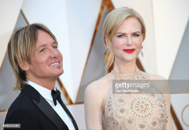 Singer Keith Urban and actress Nicole Kidman arrive at the 89th Annual Academy Awards at Hollywood Highland Center on February 26 2017 in Hollywood...