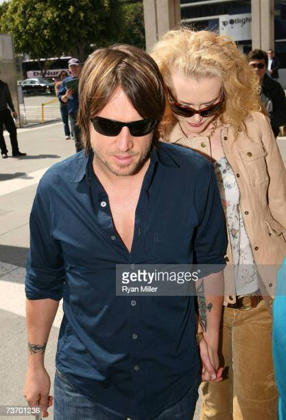 Singer Keith Urban and actress Nicole Kidman arrive at the World Premier performance of Lisa Loomer's Distracted presented at CTG/Mark Taper Forum on...