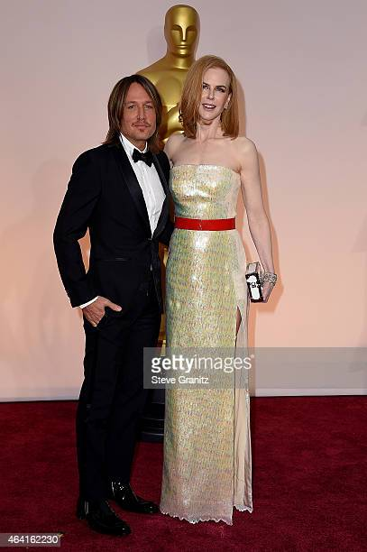Singer Keith Urban and actress Nicole Kidman attend the 87th Annual Academy Awards at Hollywood & Highland Center on February 22, 2015 in Hollywood,...
