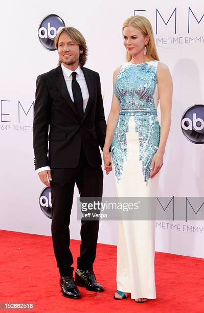 Singer Keith Urban and actress Nicole Kidman pose in the press room during the 64th Primetime Emmy Awards at Nokia Theatre L.A. Live on September 23,...