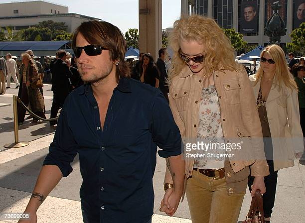 Singer Keith Urban and wife actor Nicole Kidman attend the World Premiere of Distracted starring Rita Wilson at the Mark Taper Forum on March 25 2007...