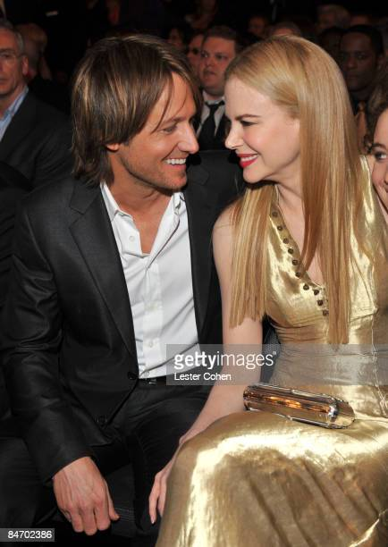LOS ANGELES CA FEBRUARY 08 Singer Keith Urban and wife actress Nicole Kidman attend the 51st Annual GRAMMY Awards held at the Staples Center on...