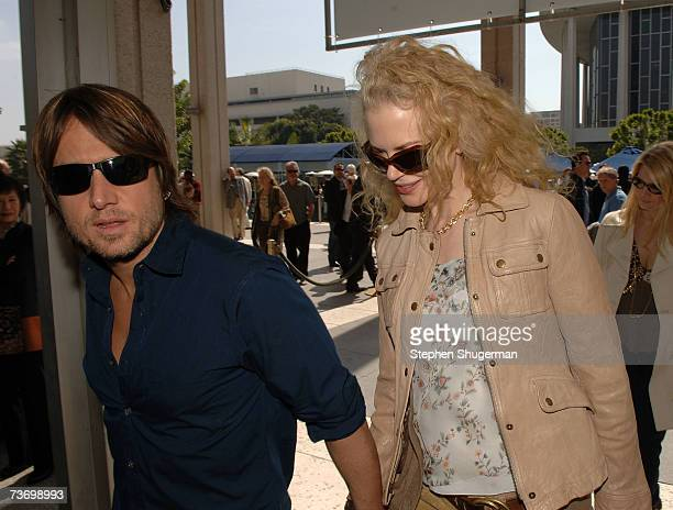 Singer Keith Urban and wife actress Nicole Kidman attend the World Premiere of Distracted starring Rita Wilson at the Mark Taper Forum on March 25...