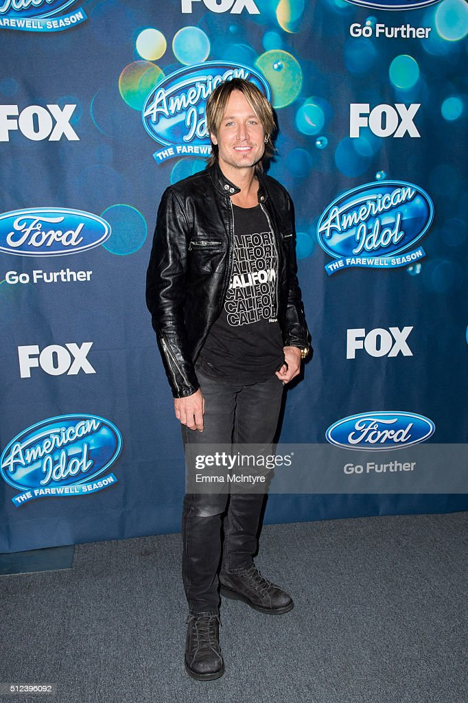 Singer Keith Urban attends Meet Fox's 'American Idol XV' Finalists at The London Hotel on February 25, 2016 in West Hollywood, California.