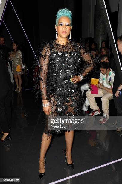 Singer Kelis attends the Ralph Russo Haute Couture Fall Winter 2018/2019 show as part of Paris Fashion Week on July 2 2018 in Paris France