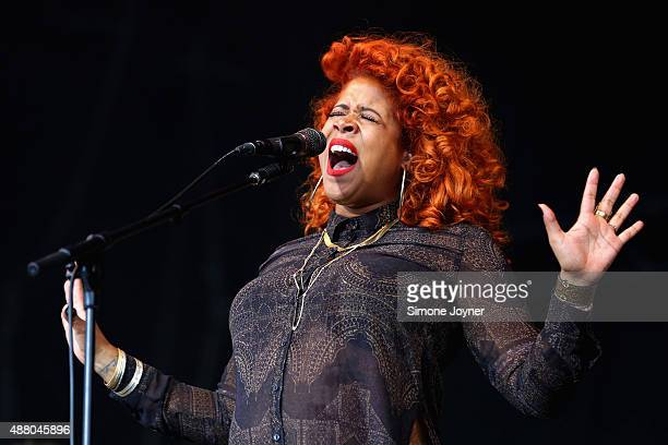 Singer Kelis performs live on the main stage during day two of the On Blackheath Festival at Blackheath Common on September 13 2015 in London England