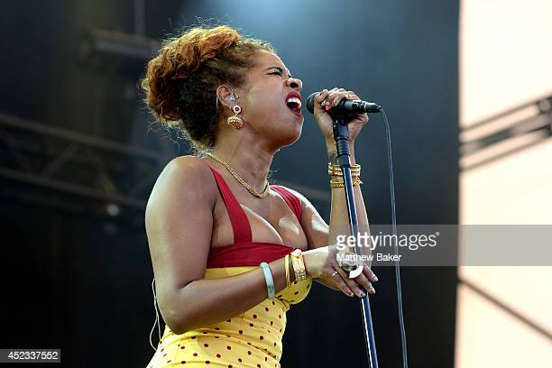 Singer Kelis performs on the Obelisk Arena stage at the Latitude Festival at Henham Park Estate on July 18 2014 in Southwold England
