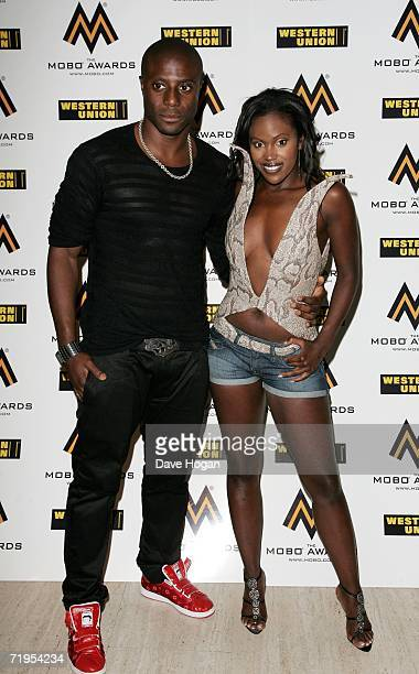 Singer Kelle Bryan and Leo arrive at the MOBO Awards 2006 at The Royal Albert Hall on September 20 2006 in London England