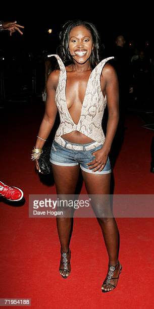 Singer Kelle Bryan arrives at the MOBO Awards 2006 at The Royal Albert Hall on September 20 2006 in London England