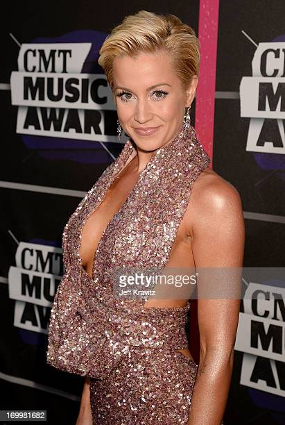 Singer Kellie Pickler arrives at the 2013 CMT Music Awards at the Bridgestone Arena on June 5 2013 in Nashville Tennessee