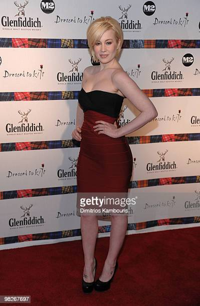 "Singer Kellie Pickler attends the 8th annual ""Dressed To Kilt"" Charity Fashion Show presented by Glenfiddich at M2 Ultra Lounge on April 5, 2010 in..."