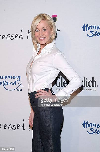 Singer Kellie Pickler attends the Dressed To Kilt charity fashion show benefiting Friends of Scotland at M2 Lounge on March 30 2009 in New York City