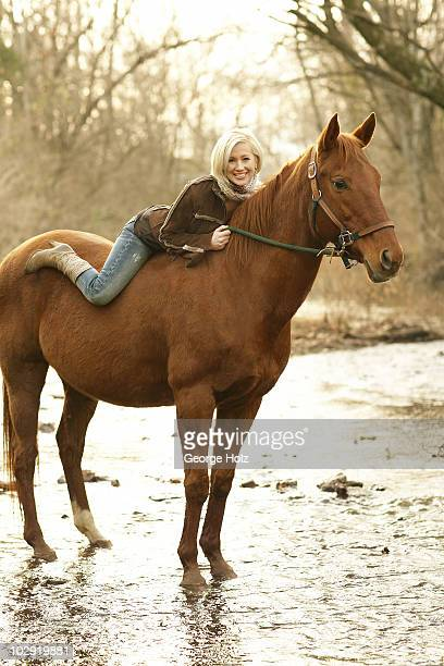 Singer Kellie Pickler poses at a portrait session for People Magazine on January 42008 at the Creekside Riding Academy in Franklin Tennessee...