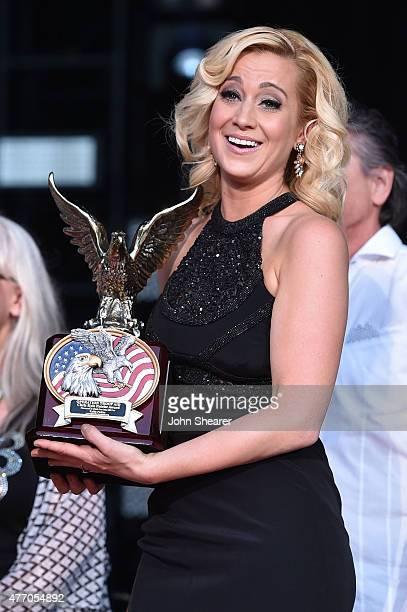 Singer Kellie Pickler poses onstage during the 2015 CMA Festival on June 13, 2015 in Nashville, Tennessee.
