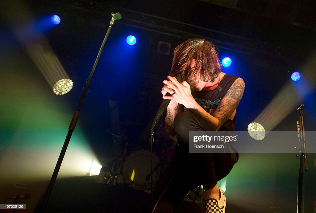 Singer Kellin Quinn of the American band Sleeping with Sirens performs live in support of Pierce the Veil during a concert at the C-Club on March 22, 2015 in Berlin, Germany.