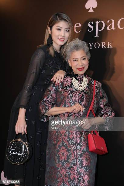 Singer Kelly Chen and actress Helena Law Lan attend Kate Spade new book launch on December 12 2017 in Hong Kong China