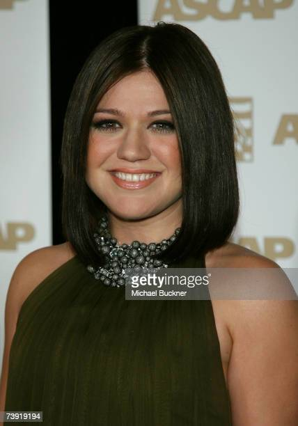 Singer Kelly Clarkson arrives at the ASCAP Pop Music Awards at the Kodak Theatre on April 18 2007 in Los Angeles California